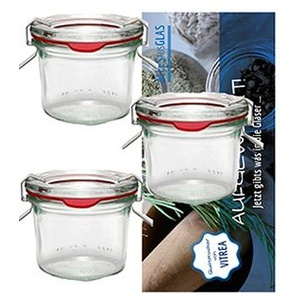 12 Weck Gläser 80 ml Einmachgläser Sturzgläser Weckgläser/inkl Einkochringe Klammern Glasdeckel