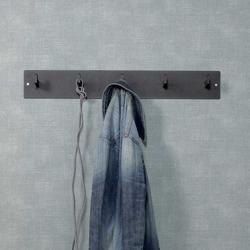 Garderoben Wandhaken in Schwarz Stahl