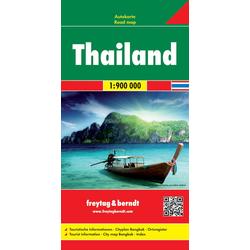 Thailand 1 : 900 000. Autokarte