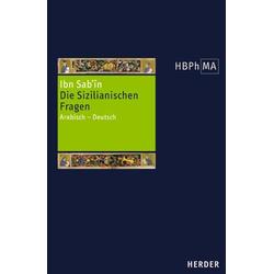 Die Sizilianischen Fragen als Buch von Ibn Sab'in