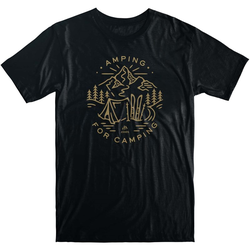 Tshirt JONES - Tee Amping For Camping Black (BK)