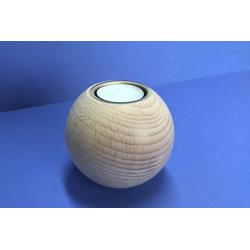 Kerzenhalter Holzkugel 90mm