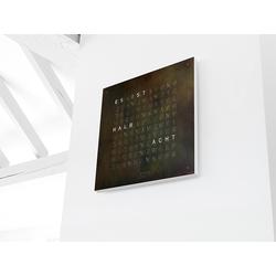 Wanduhr Qlocktwo Creator's Edition, Designer Biegert & Funk, 45x45x4.5 cm