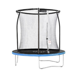 Trampoline de jardin Freestyle Bleu 250 fitness extérieur Ø 244cm - Filet de sécurité/coussin de