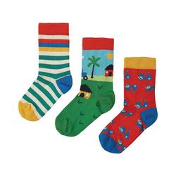frugi Socken Socken für Jungen, 3er-Pack, Organic Cotton 35-38
