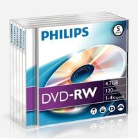 Philips DVD-RW 4,7GB 4x 5er Jewelcase