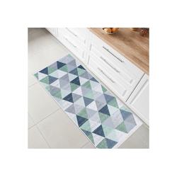 Teppich Kelim, Fashion Home, Läufer, Flur Teppich, Teppich Läufer, Boho Kelim Teppich grün Läufer - 80 cm x 150 cm