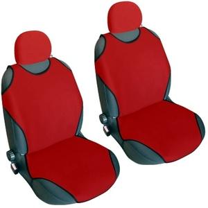 Akhan CSC401 - 1 Paar (2Stück) Sitzbezug Sitzauflage Sitzschoner Rot