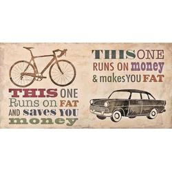 Home affaire Deco-Panel Skip Teller / Bikes vs. Car, 100/50/2 cm