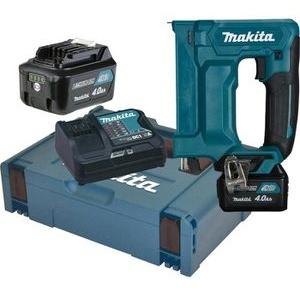 Makita ST113DSMJ, Elektrotacker mit Akku, 10,8V / 4,0Ah, inkl. Koffer, für Flachdrahtklammern