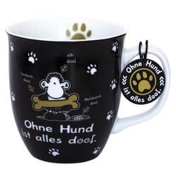 """Sheepworld Tasse Sheepworld - Geschenk- Büro- Kaffee- Tasse """"Ohne Hund ist alles doof"""" 0,4l 45704"""