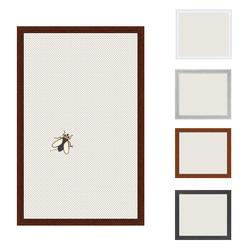 Insektenschutz Spannrahmen, Fliegengitter für Fenster, fertig auf Mass, als Bausatz, in nussbaum