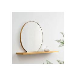 COUCH♥ Spiegel Runde Reflektion, Spiegel mit Wandregal, COUCH Lieblingsstücke