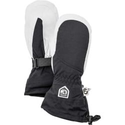 Hestra - Heli Ski W Mitt Black/Off White - Skihandschuhe - Größe: 8