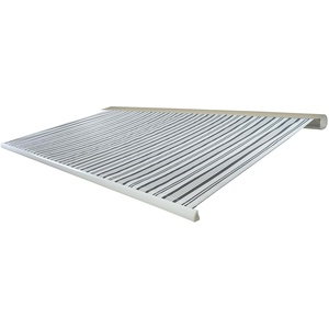 Mendler Elektrische Kassettenmarkise T122, Markise Vollkassette 4x3m ~ Polyester Grau/Weiß