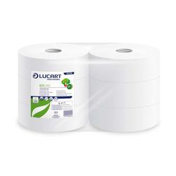 6 Jumborollen Toilettenpapier Eco Lucart 350 JumboToilettenpapier 2-lagig 350...