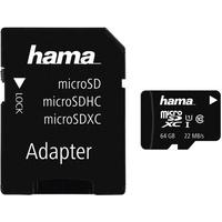 Hama microSDXC 64GB Class 10 22MB/s UHS-I + SD-Adapter/Foto
