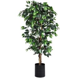 Kunstbaum Zimmerpflanze Deko, COSTWAY, Höhe 180 cm 180 cm