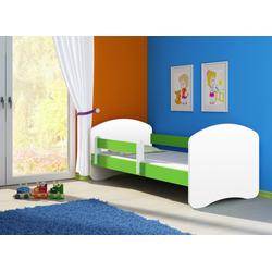 Clamaro Kinderbett (CLAMARO Kinderbett Fantasia, weiss mit farbigem Seitenteil, Kinder, Bett, mit oder ohne Schublade)