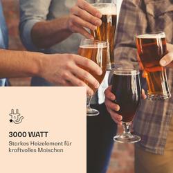 Mundschenk 3XL Maischekessel Bierbrauanlage 3.000 W 9 Programme 65 l