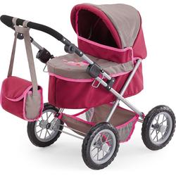 Bayer Puppenwagen Puppenwagen Trendy grau/ pink