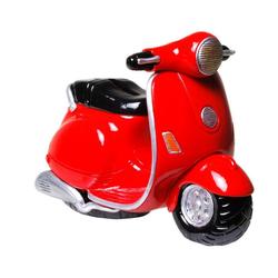 Kremers Schatzkiste Spardose Spardose Motorroller Motorrad aus Polyresin 15 cm Roller Moped Biker Führerscheinprüfung