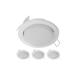 LED Einbauring Zobe slim GX53 weiß matt rund 4W=28W 280lm 107mm Ø Lochkreis 90mm Ø, 4 Stk.
