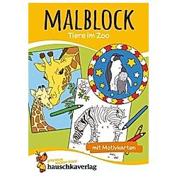 Malblock - Tiere im Zoo - Buch