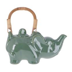 Guru-Shop Dekoobjekt Keramik Teekanne - Elefant