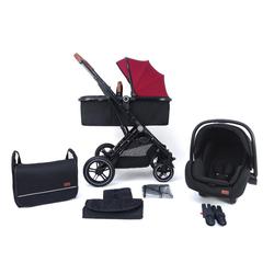 Pixini Kombi-Kinderwagen Pixini Lania Kinderwagen 3in1 Set rot