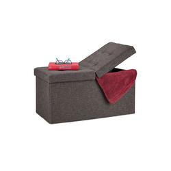 relaxdays Sitzbank Sitzbank mit klappbarem Deckel braun
