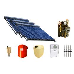 Solaranlage Warmwasser und Heizung mit 90 SWD Röhren 58/1800 (14,85m²) Edelstahl