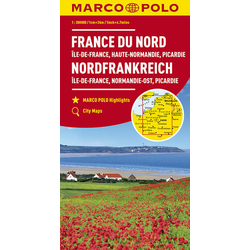 MARCO POLO Karte Frankreich Nordfrankreich 1:300 000