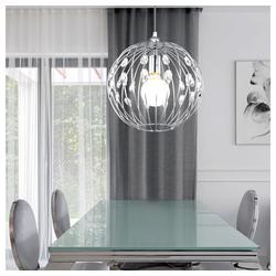 etc-shop Kugelleuchte, Design Decken Lampe Hänge Pendel Leuchte K9 Kristalle Amber Chrom Kugel