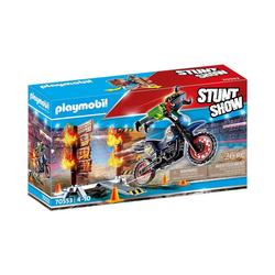 Playmobil® Spielfigur PLAYMOBIL® 70553 Stuntshow Motorrad mit Feuerwand