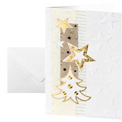 Sigel Weihnachtskarten Weiße Weihnacht A6 185 g/m² Weiß 10 Stück