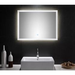 Badmöbel Set Carpo 80 S mit LED Spiegel, weiss hochglanz