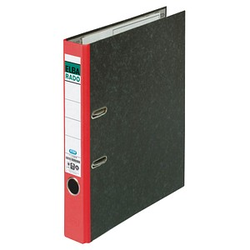 ELBA rado Wolkenmarmor Ordner rot marmoriert Karton 5,0 cm DIN A4