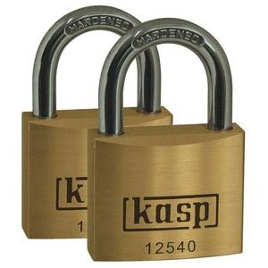 KASP K12520D2 Vorhängeschloss 20mm gleichschließend Goldgelb Schlüsselschloss