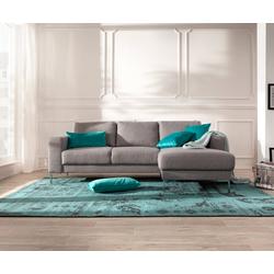 DELIFE Designer-Ecksofa Silas 235x147 cm Grau Ottomane Rechts, Ecksofas, Designer Sofa