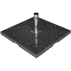 anndora Sonnenschirmständer eckig 90kg Granit dunkelgrau Schirmfuß Edelstahlrohr