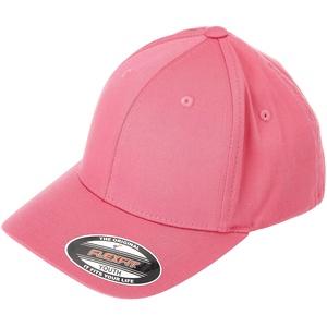 Flexfit Unisex Wooly Combed Baseballkappe, dark pink, XXS/XS