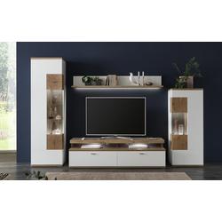 Ideal-Möbel Wohnwand Sylt in weiß