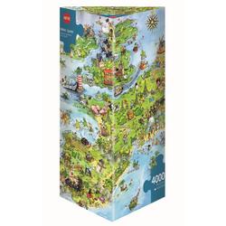 HEYE Puzzle HEYE 8854 Marino Degano United Dragons of Europe 4000 Teile Puzzle, 4000 Puzzleteile braun