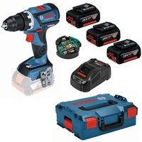Bosch GSR 18V-60 C Professional inkl. 3 x 5,0 Ah + L-Boxx 0615990HV2