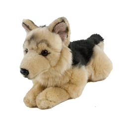 Teddys Rothenburg Kuscheltier Hund Schäferhund 30 cm mit Schwanz (Plüschschäferhund Stoffschäferhund, Plüschhund, Stoffhund, Hund, Plüschtier, Stoffhund)