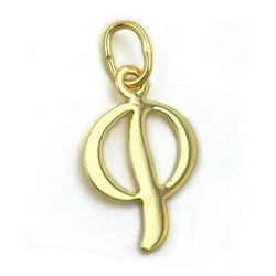 unbespielt Buchstabenanhänger Schmuck Kettenanhänger Anhänger Buchstabe P aus 333 Gold 15 x 10 mm, Goldschmuck für Damen