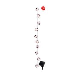 Solarlichterkette 'Fußball' Näve Weiß