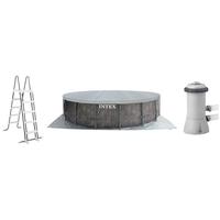 Intex Prism Greywood Pool Set 457 x 122 cm inkl. Kartuschenfilteranlage