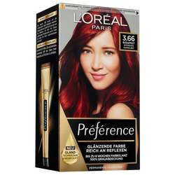 L´Oréal Paris Nr. 3.66 - Intensives Dunkelrot Haarfarbe